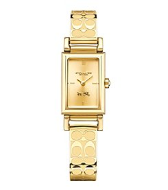 Coach Madison Signature Gold Bangle Watch