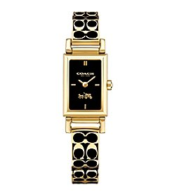 Coach Madison Signature Gold and Black Bangle Watch
