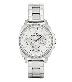 Coach Boyfriend Small Stainless Steel Multifunction Bracelet Watch