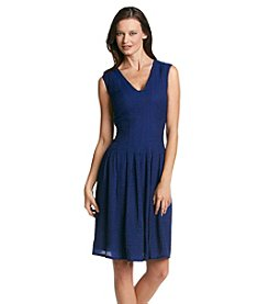 Anne Klein® Rita Sheer Pique Dress