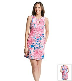 Julian Taylor Floral Textured Dress