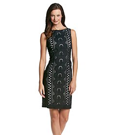 Chetta B. Eyelet Sheath Dress