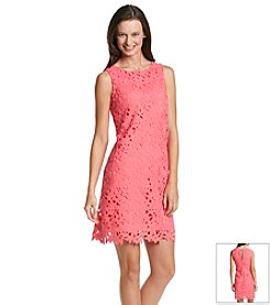 Jessica Simpson Embroidered Crochet Shift Dress
