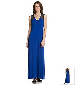 Calvin Klein Knit Mesh Maxi Dress