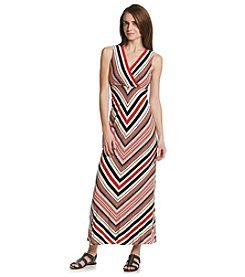 Calvin Klein Fire Stripe Maxi Dress