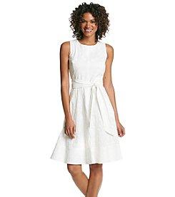 Anne Klein® Floral Cotton Dress