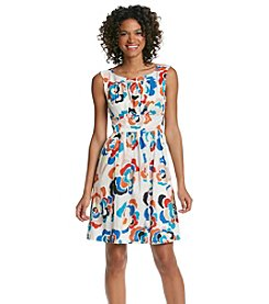 Plenty by Tracy Reese Woodblock Roses Dress