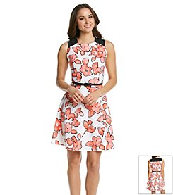 Ronni Nicole® Floral Belted Dress