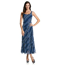 Kasper® Chevron Tiered Maxi Dress