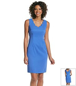 Connected® Scalloped Periwinkle Dress