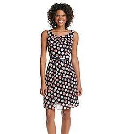 Connected® Dot Chiffon Dress