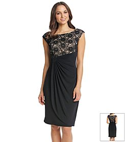 Connected® Lace Drapey Dress