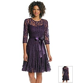 MSK® Lace Pleated Dress