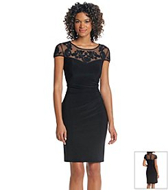 Jessica Howard® Lace Illusion Drape Dress