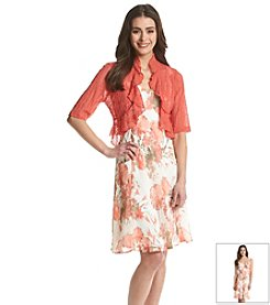 Connected® Petites' Floral Print Shrug Dress