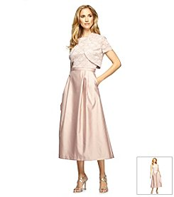 Alex Evenings® Tea Length Jacket Dress