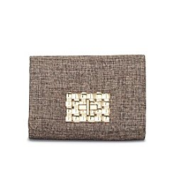La Regale® Linen Crossbody Clutch