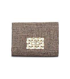 La Regale® Linen Crossbody Clutch