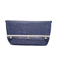 La Regale® Shimmer Linen Clutch