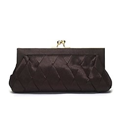 La Regale® Satin Basketweave Clutch