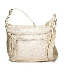 GAL Washed Ostrich Soft Shoulder Bag