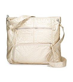 GAL Washed Multi Zip Shoulder Bag