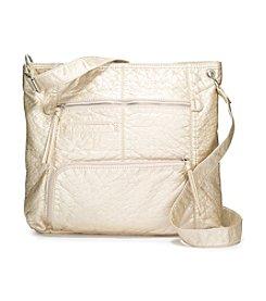 GAL Washed Multi Zip Shoulder Bag