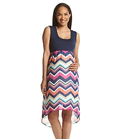 Three Seasons Maternity™ Solid Tank Chevron Skirt Dress