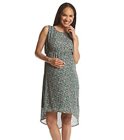 Three Seasons Maternity™ Floral Print Sleeveless Dress
