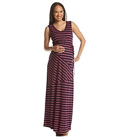 Three Seasons Maternity™ Mix Stripe Tank Maxi Dress