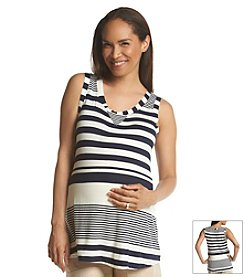 Three Seasons Maternity™ Contrast Stripe Knit Tank