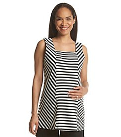 Three Seasons Maternity™ Stripe Front Panel Knit Tank