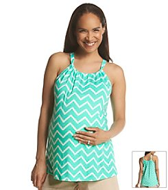 Three Seasons Maternity™ Chevron Print Halter Top