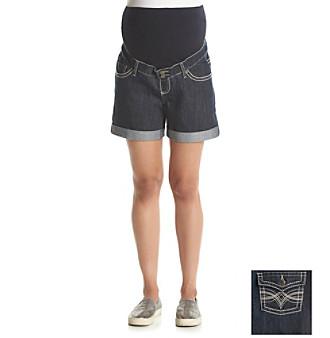 Three Seasons Maternity™ Denim Rinse Roll Cuff Shorts plus size,  plus size fashion plus size appare