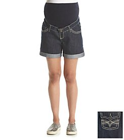 Three Seasons Maternity™ Denim Rinse Roll Cuff Shorts