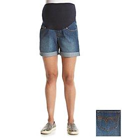 Three Seasons Maternity™ Medium Wash Denim Cuff Shorts