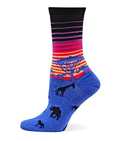 Hot Sox® African Sunset Crew Socks