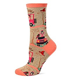 Hot Sox® Safari Scene Crew Socks