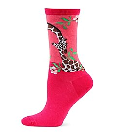 Hot Sox® Giraffe With Baby Crew Socks