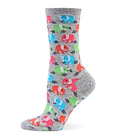 Hot Sox® Elephant Crew Socks