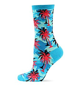 Hot Sox® Palm Tree Camo Crew Socks