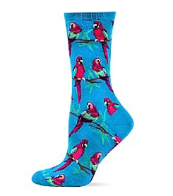 Hot Sox® Tropical Parrots Crew Socks
