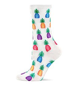Hot Sox® Pineapple Crew Socks