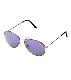 Steve Madden Metal Aviator Mirror Lenses