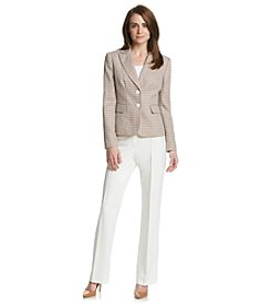 Kasper® Tweed Jacket With Solid Pant Suit Set