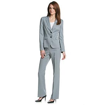Kasper® Shadow Stripe Jacket And Pant Suit Set plus size,  plus size fashion plus size appare
