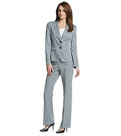 Kasper® Shadow Stripe Jacket And Pant Suit Set