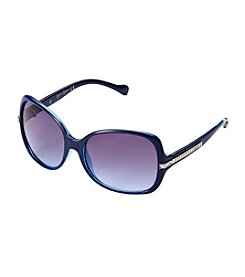 Jessica Simpson Glam Rectangle Metal Temple Sunglasses