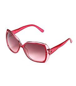 Jessica Simpson Plastic Glam Rectangle Sunglasses