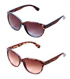 Jessica Simpson Oval Colored Tortoise Plastic Sunglasses